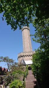 Von überall im Park sichtbar: Mystery Castle